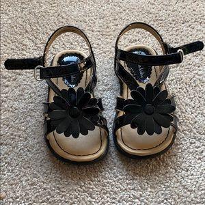 Black dressy girls sandals